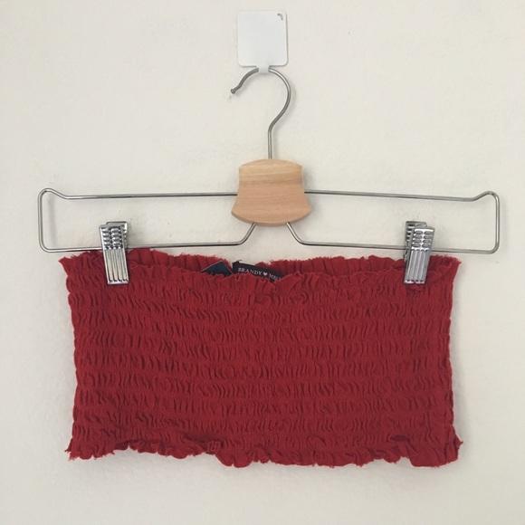 9b01f45e109 Brandy Melville Red Kessy Tube Top